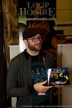Adron Buske at Appleseed Comic Con 2013. Photo by Robert Walker.