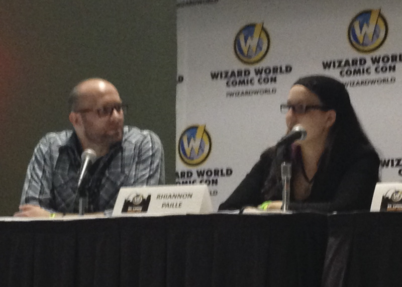 Wizard World St. Louis panelists Adron Buske and Rhiannon Paille