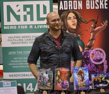 Adron Buske at Wizard World Chicago 2014. Photo courtesy of Travis Fletcher.