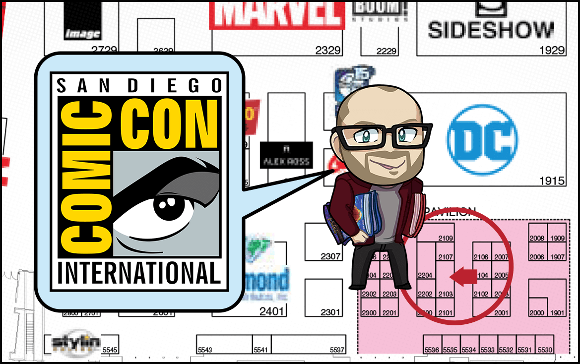 Adron at San Diego Comic Con 2018